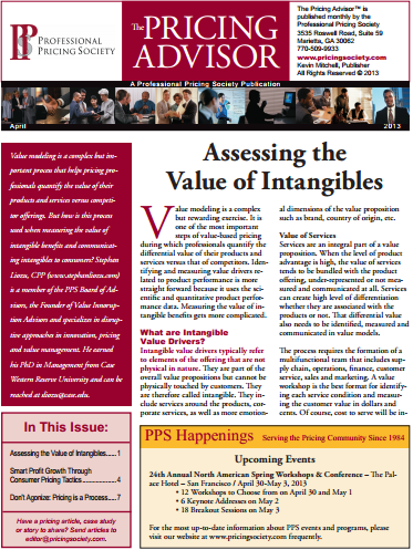 Assessing the Value of Intangibles